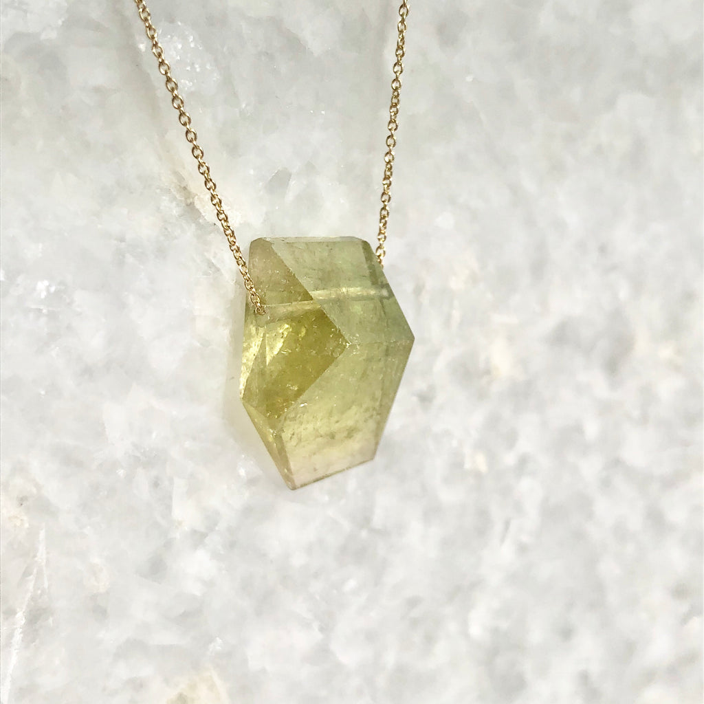 matcha green tourmaline necklace