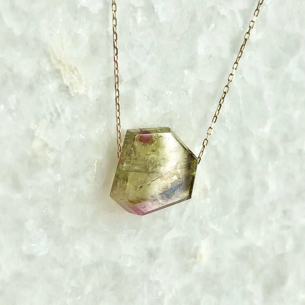 lotus watermelon tourmaline necklace
