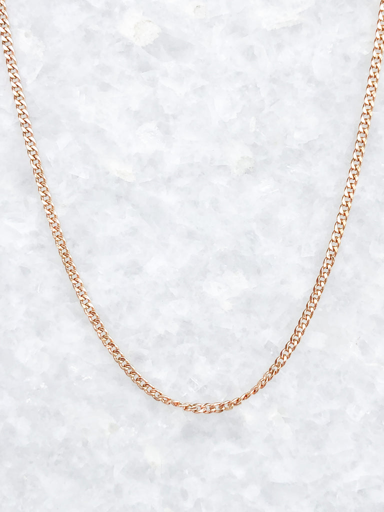 extra small curb chain necklace