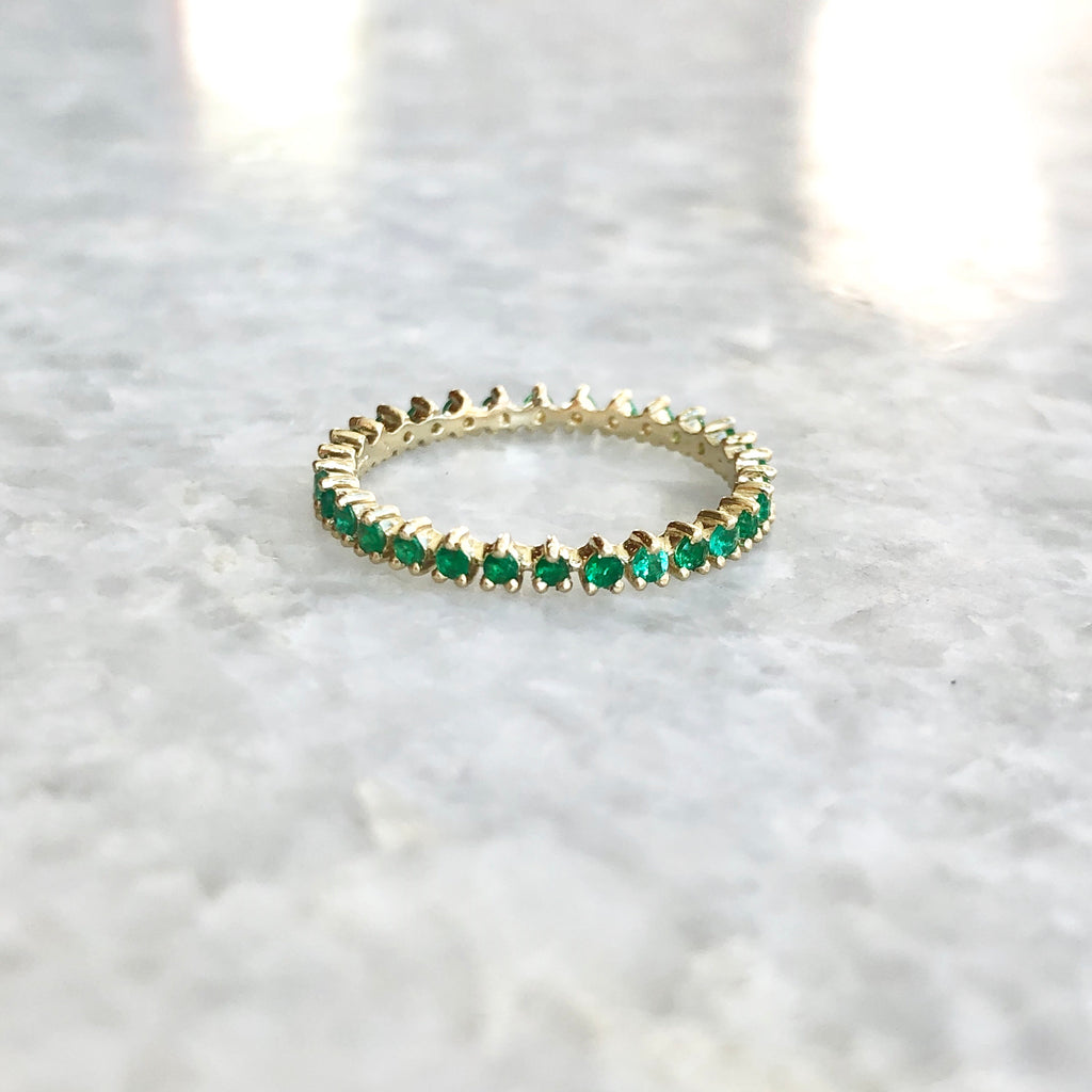 reed ring in emerald