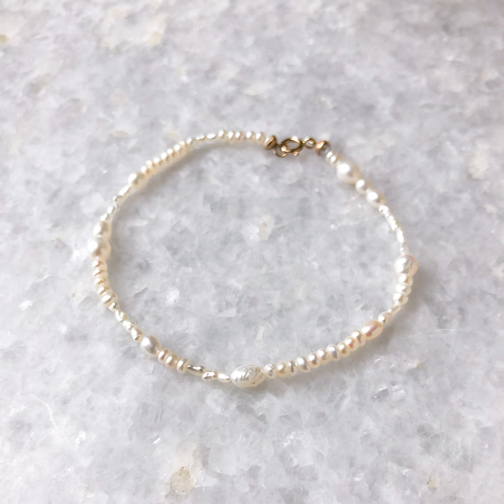 small pearl collage bracelet