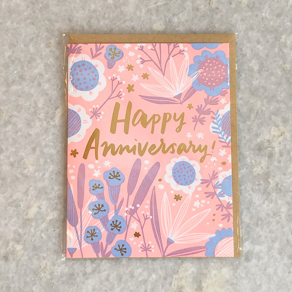 """a garden of flowers"" anniversary card"