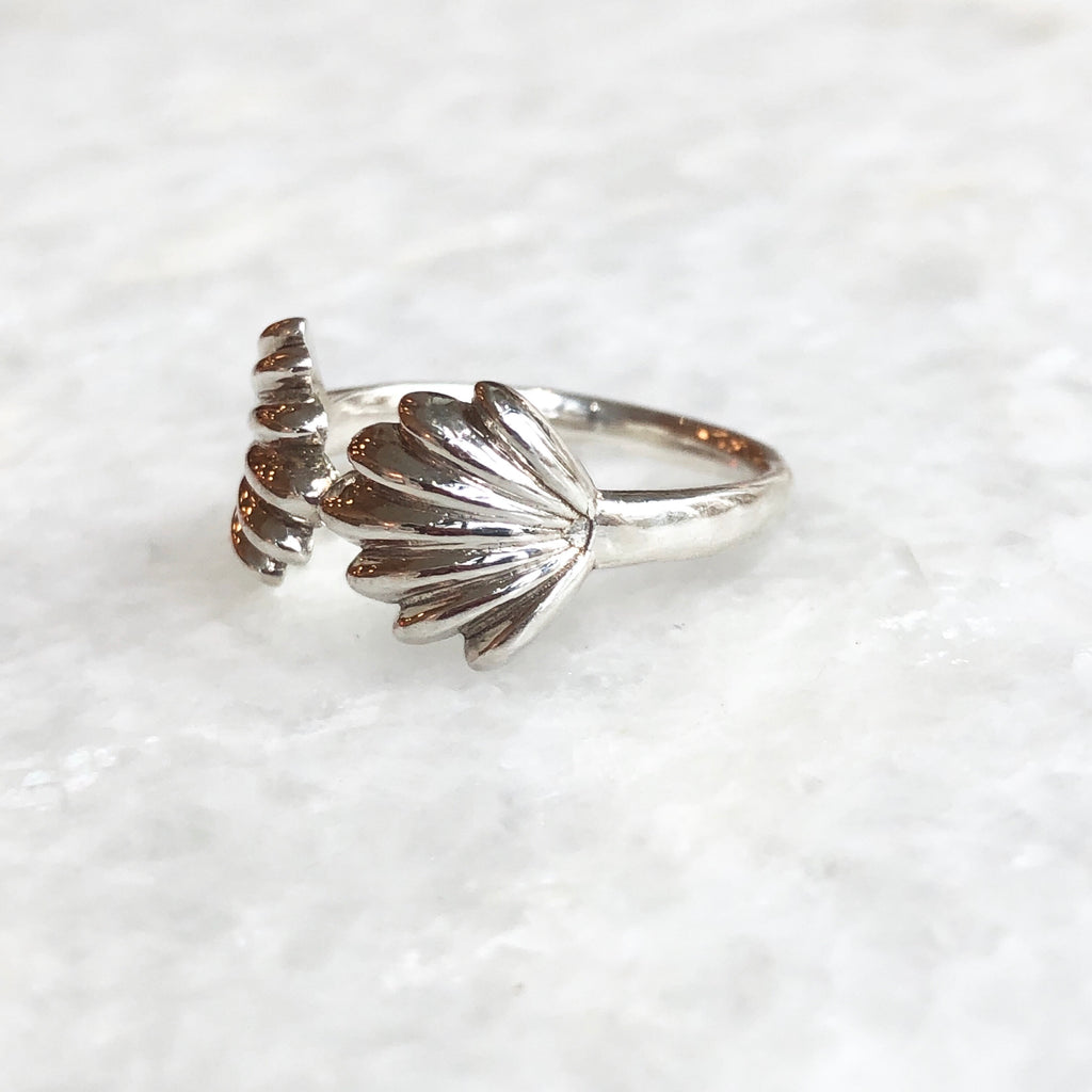 sterling silver mishell ring