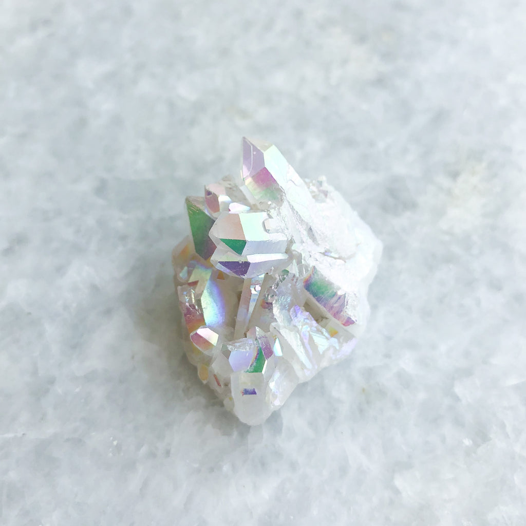 angel aura crystal cluster