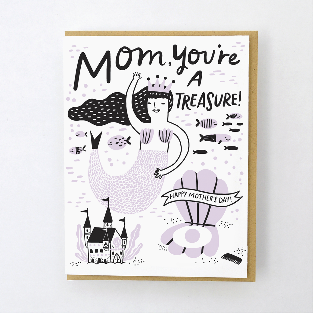 mom you're a treasure card