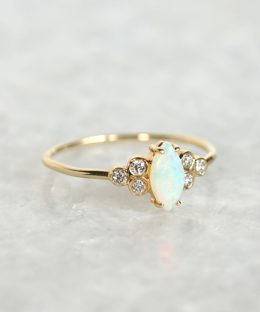opal and diamond mystic ring