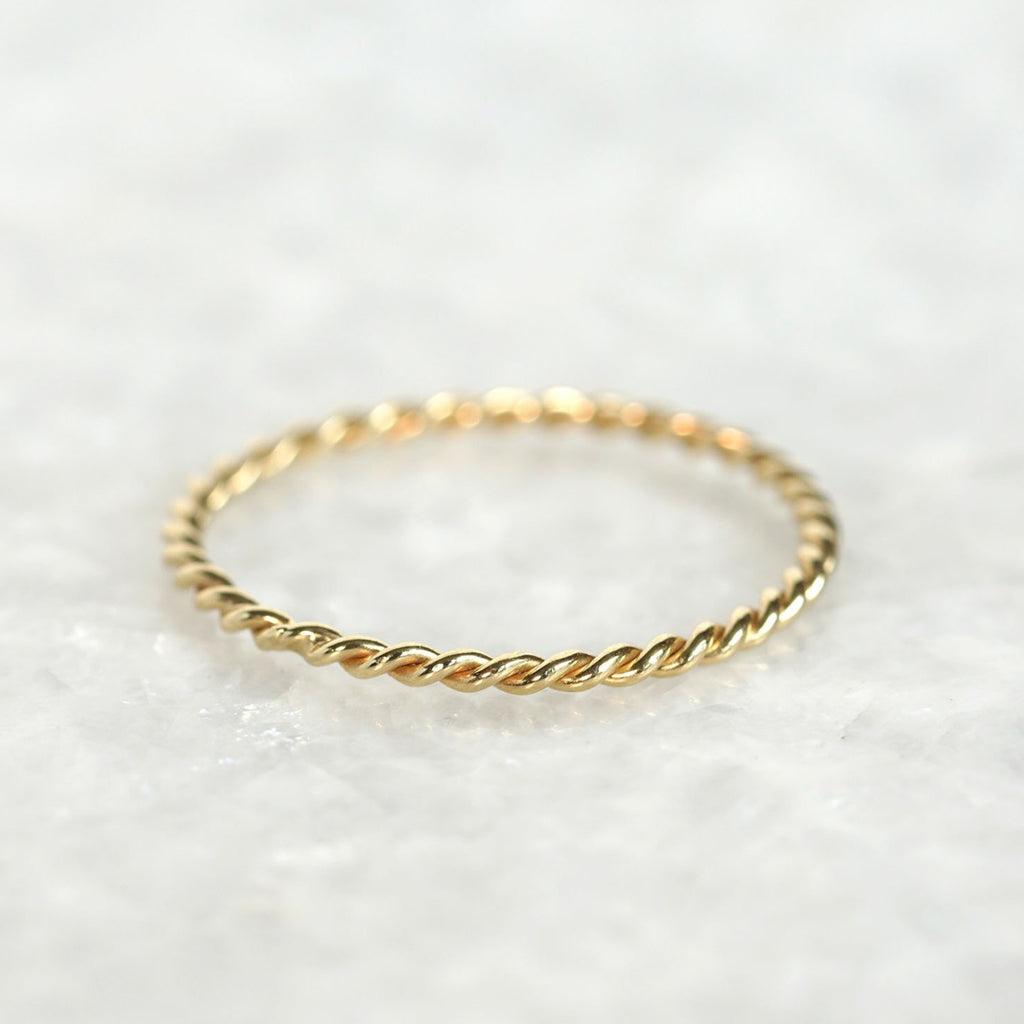 twist rope wedding band