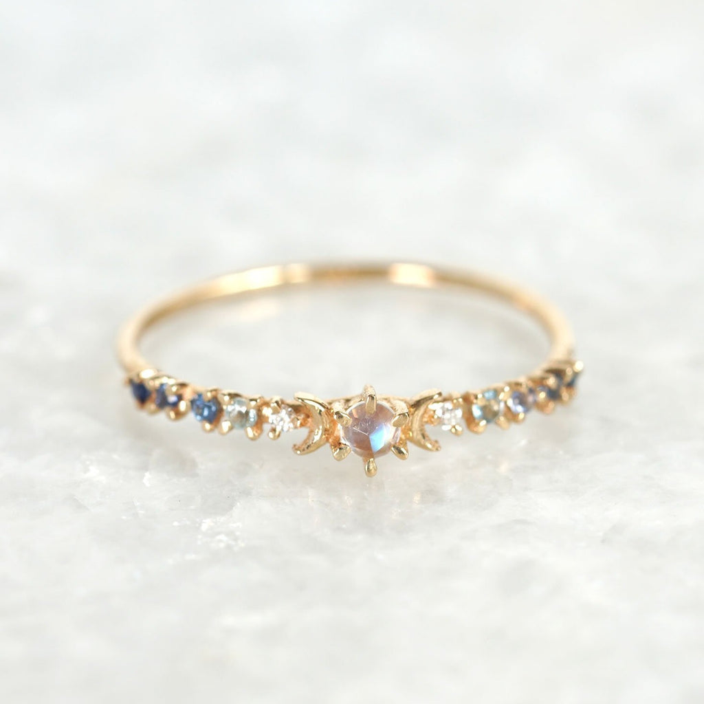moonstone stardust ring