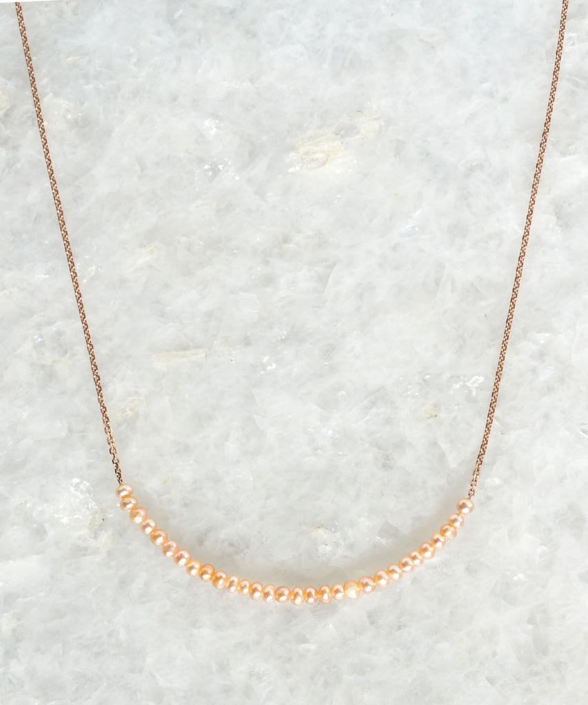 pearl arc necklace