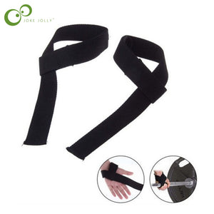 2 pcs Men Leather Padded Gym Weight Lifting Straps