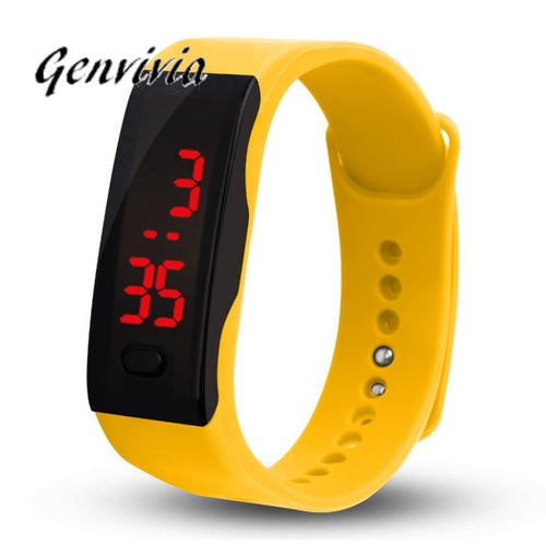 GENGVIVIA Mens Womens Rubber LED Watch Date  Digital Wrist Watches