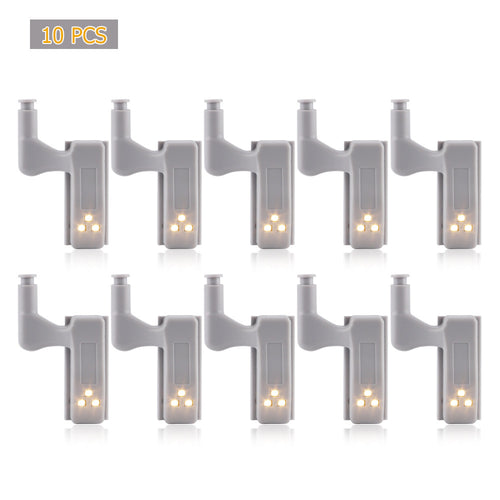 10pcs LED Hinge Night Light Lamp