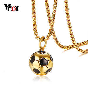 Football Pendant with  Necklace Stainless Steel For Men