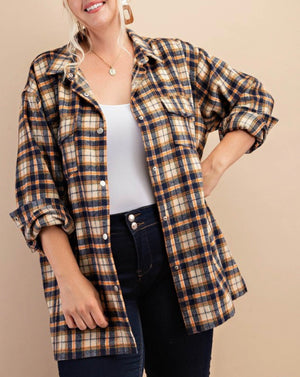 Row Plaid Coatagan
