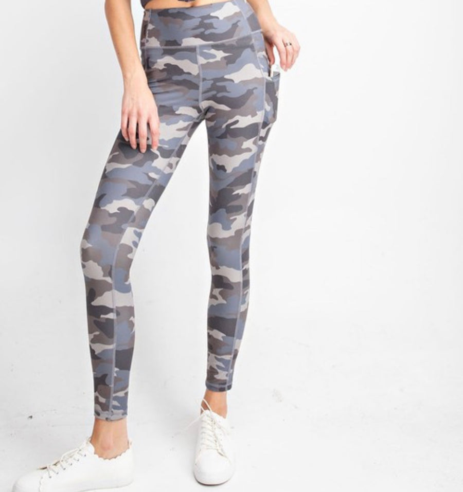 Wishbone Camo Leggings  - Extended Sizes