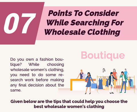 7 Points To Consider While Searching For Wholesale Clothing Supplier