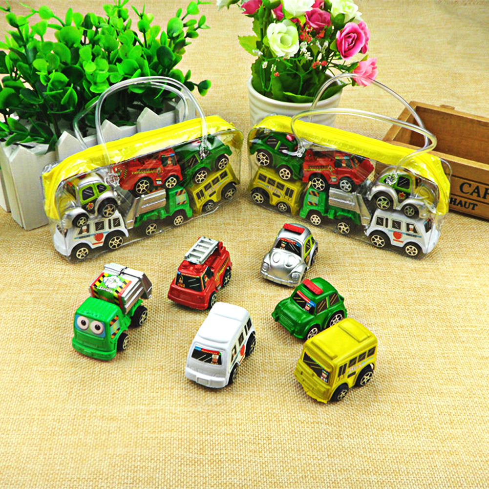 6pcs/lot Wheels Car 100% Original Basic Car Toy Mini Alloy Collectible Model  Pull Back Cars Toy For Children Boys Gift