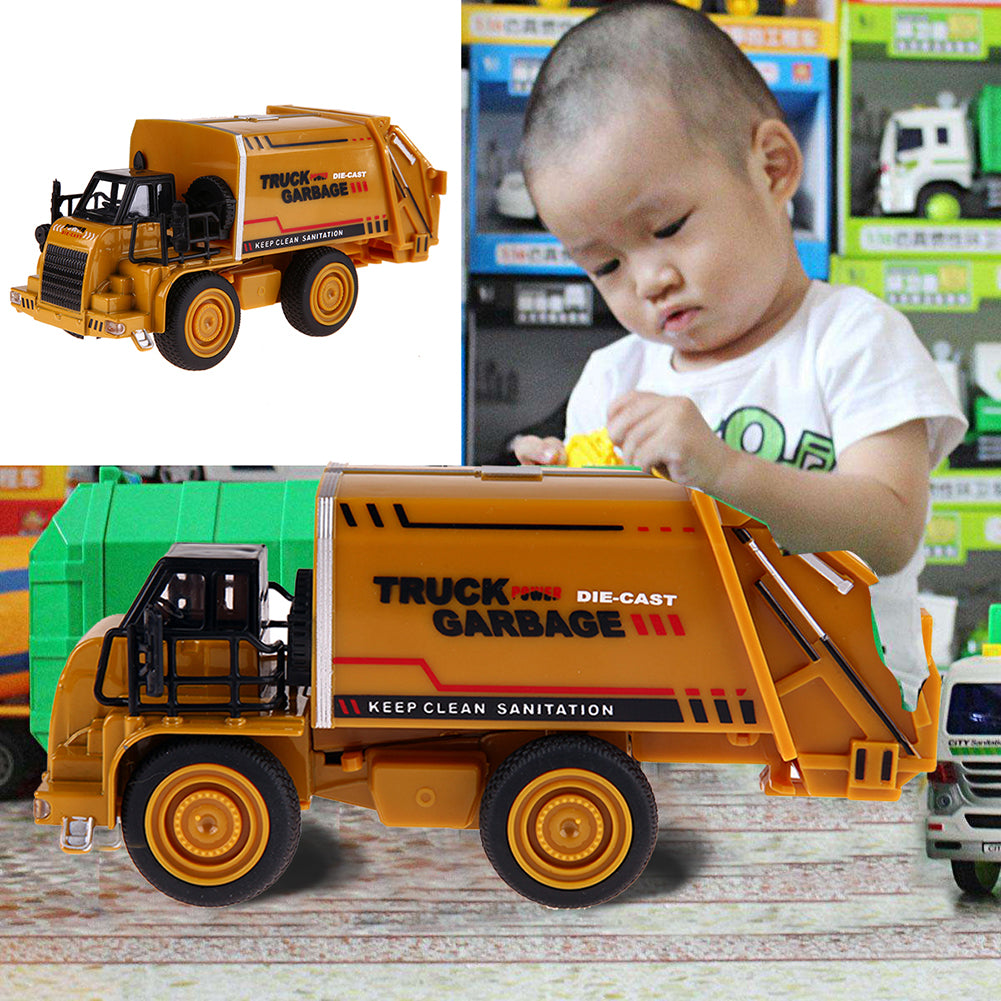 Alloy Car Model Mini Diecasts Material Delicate Pull Back Toy Garbage Truck Watering Transport Vehicle Toys Gift