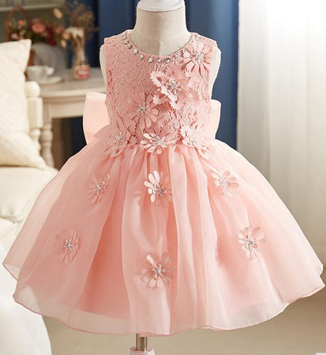 2017 New Summer Costume Girls Princess Dress Children's Evening Clothing Kids Chiffon Lace Dresses Baby Girl Party Diamond Dres
