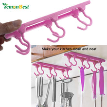 Kitchen Cupboard Hooks Ceiling Hanging Hooks Storage Rack with Traceless Adhesive Glue