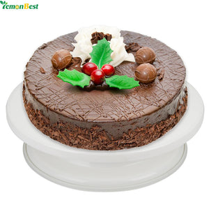 Cake Swivel Plate Revolving Decoration Stand Platform Turntable 28cm Round Baking Tool