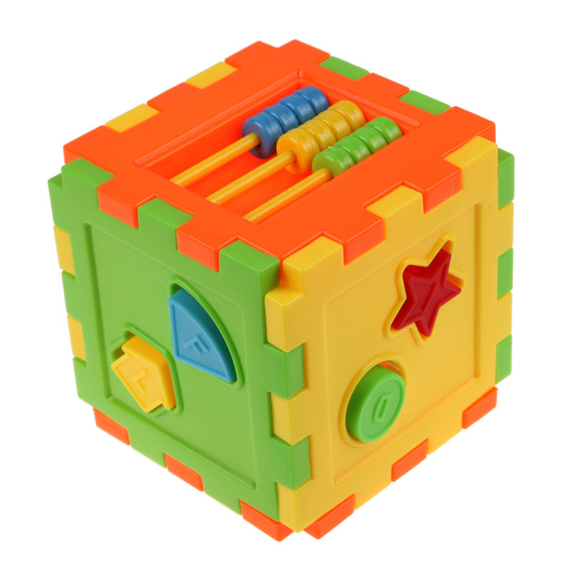 Colorful Baby Blocks Toy Cube Bricks Geometric Matching Blocks Baby Kids Intelligence Educational Sorting Box Toy Christmas Gift