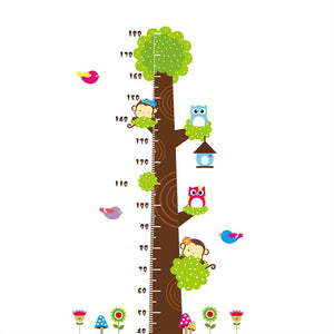 Removable DIY PVC Cartoon Kids Nursery Growth Chart Wall Stickers Murals Home Walls Decor Art for Bedroom Living Room
