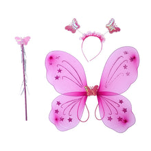 3pcs Girl's Butterfly Costume Set Butterfly Wings with Butterfly Headband and Fairy Magic Wand