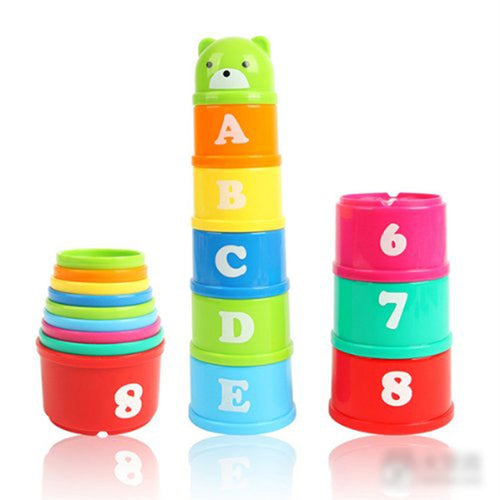 Set of Non-Toxic Discovery Toys Educational Baby Toddler Child Measure Up Stacking Cups