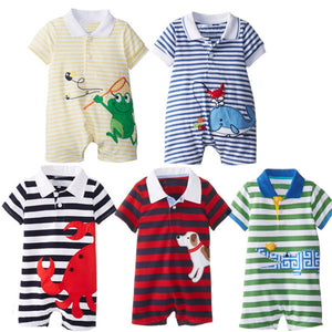 2017 Baby Rompers Summer Baby Boy Clothing Sets Roupas Bebes Newborn Baby Clothes Roupa Infant Animal Jumpsuits Baby Boy Clothes