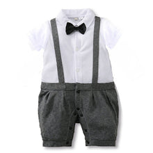 Baby Rompers Summer Baby Boy Clothing Sets Roupa Bebes Gentleman Newborn Baby Clothes Short Sleeve Infant Boys Jumpsuits