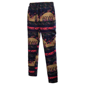 Men Trousers Harem Sweatpants Slacks Casual Jogger Sportwear Baggy Comfy Pants