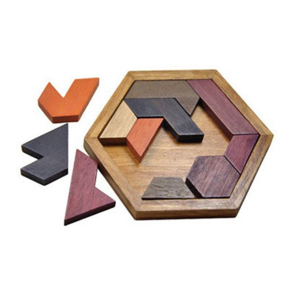 Kids Puzzles Wooden Toys Jigsaw Board Geometric Shape Dimensional Puzzle Combination