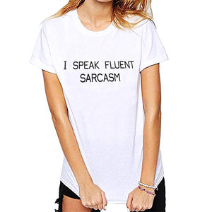 Women Short Sleeve O Neck Letter Print Tops Lady Casual T-Shirt
