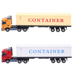 1:48 Alloy Truck Car Toy Simulation Container Trucks Construction Vehicle Model for Kids Educational Toy Car Xmas Gift for Boys