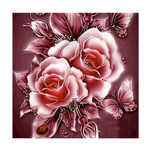 5D DIY Frameless Diamond Embroidery Painting Handmade Wall Decoration Flower