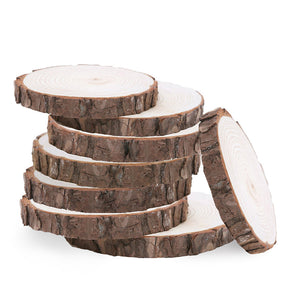 Natural Wood Log Slices Discs for DIY Crafts Wedding Centerpieces