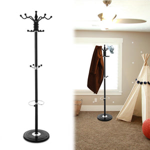 Wooden Coat Rack and  Umbrella Holder