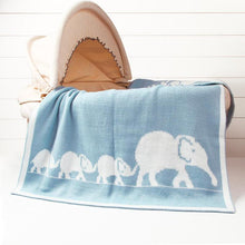 75x95cm Baby Swaddle Wrap Blanket Bedding Newborn Soft Cartoon Elephant Knitted Infant Stroller Bedding Wrap Swaddle Towel