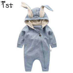 1st Newborn Baby Girls Boys Clothing Romper Cotton Long Sleeve Jumpsuit Playsuit Bunny Outfits One piecer 3D Ear Clothes k1
