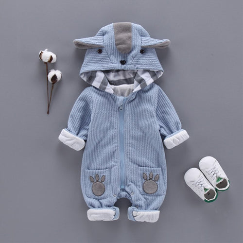 Newborn Infant Baby Hooded suit Autumn/Winter