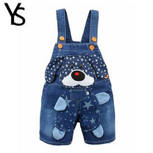 1 2 3 4T Baby Clothing Boys Girls Jeans Overalls Shorts Toddler Kids Denim Rompers Cute Cartoon Bebe Pants Summer Bib Clothes
