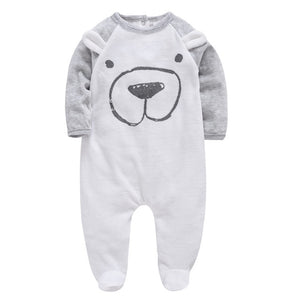 Kavkas 2019 Baby Rompers roupa de bebes Cartoon Long Sleeve Newborn Baby Clothes Winter Infant Baby Boys Romper
