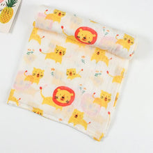 Muslin Tree Newborn Muslin Swaddle Baby Multi-use  Bamboo Cotton Blanket Infant  Newborn Baby Wrap 120X120cm
