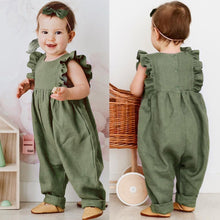 Baby Girl 1 piece suit Sleeveless with Ruffles
