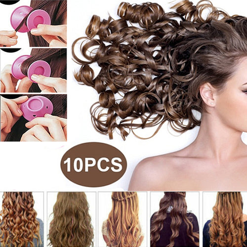 10pcs/set Soft Rubber Magic Hair Care Rollers Silicone Mushroom Hair Curler No Heat No Clip Hair Curling Styling DIY Tool