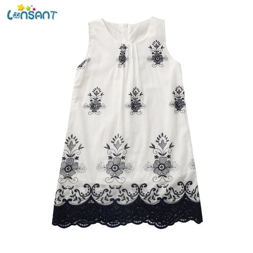 LONSANT New Girls Dress Summer Style Party Wear For Kids Baby Princess Dresses Girls Teenage Vestido Children's Clothing N30