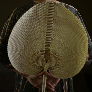 "Balinese Woven Hand Fan ""Ono"" - The ReKoop"