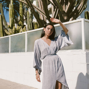 Malibu Wrap Maxi Dress - The ReKoop