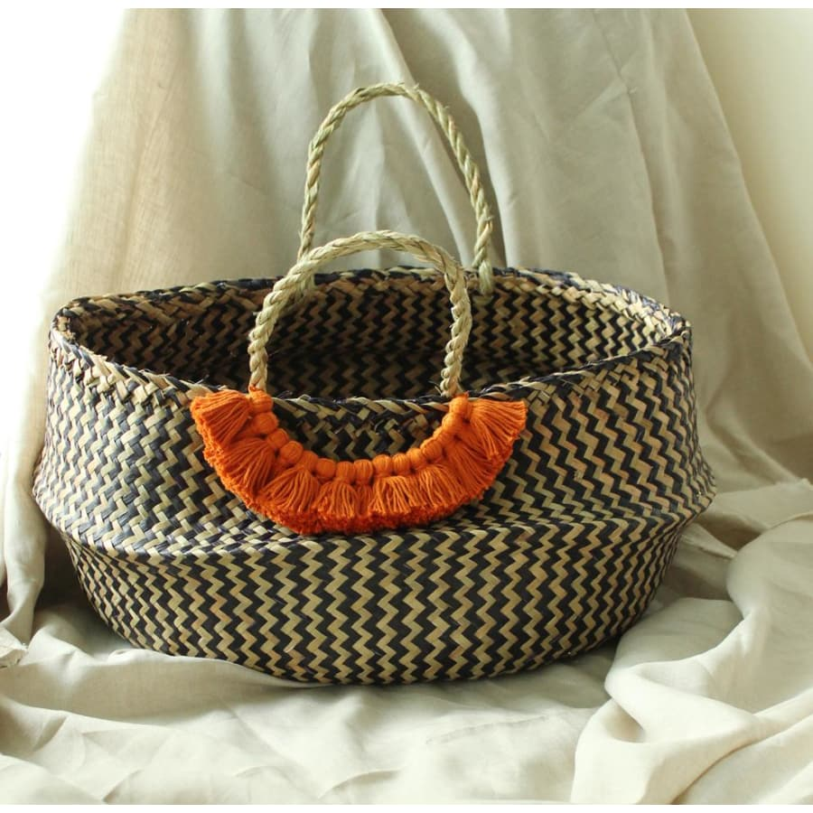 Borneo Extra Wide Chevron Basket - The ReKoop